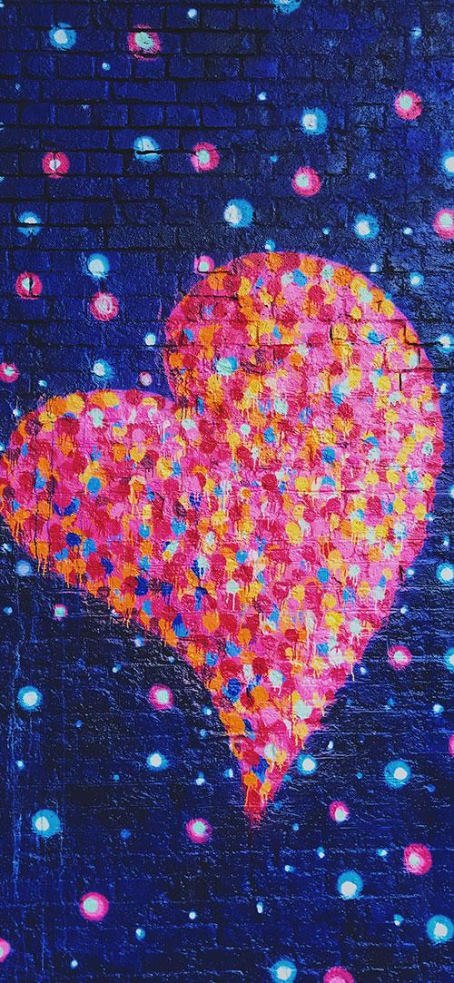 Love-Heart-Apple-iPhone-X-Wallpaper