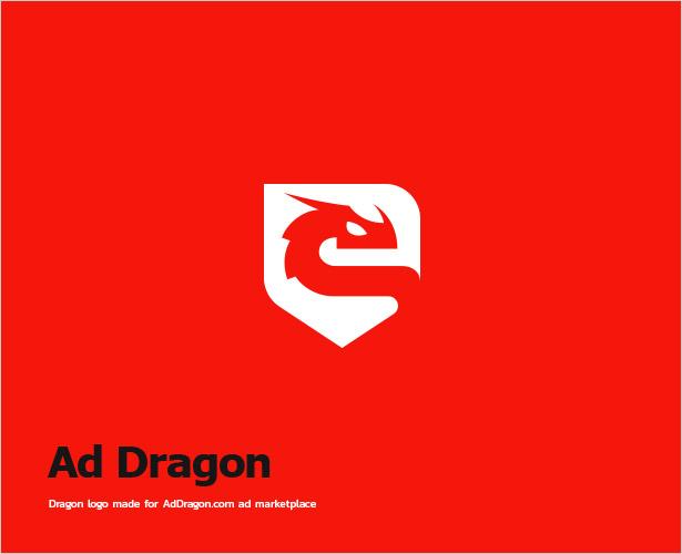 Ad-Dragon-Negative-Space-Logo-Design