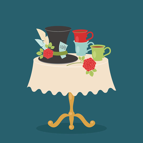 Alice-in-Wonderland-Tea-Party-Table-Vector-Illustation-Adobe-Illustrator-Tutorial-