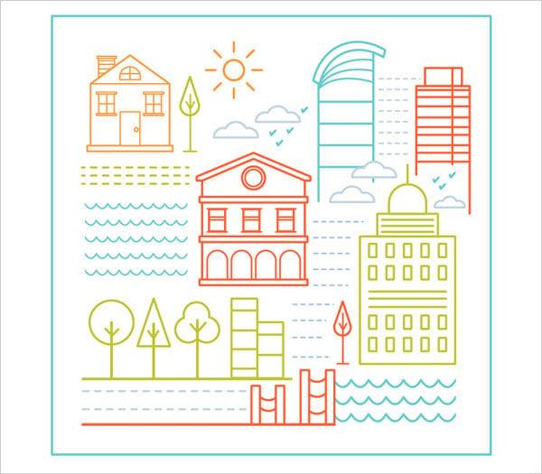 Basic-thin-line-shapes-City-Illustration-Tutorial