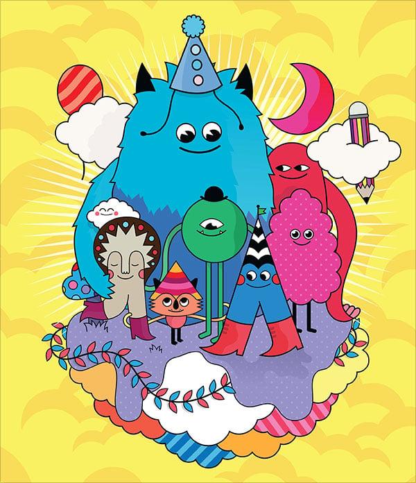 Create-colourful-vector-character-art