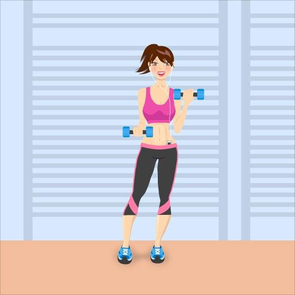 Fitness-Girl-Character-Illustration-Adobe-Illustrator-Tutorial