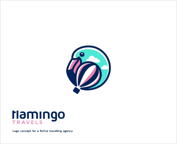 Flamingo-Travels-Logo-Design