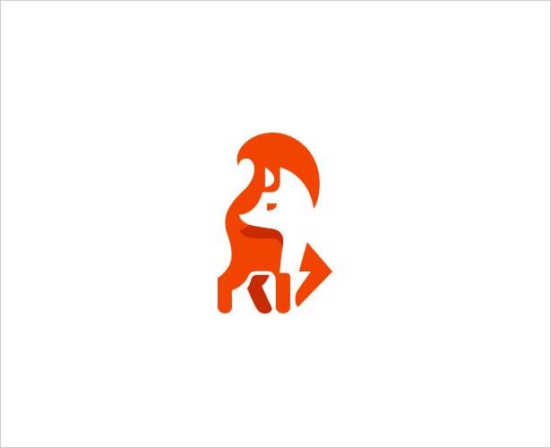 Fox-Negative-Space-Logo-Design
