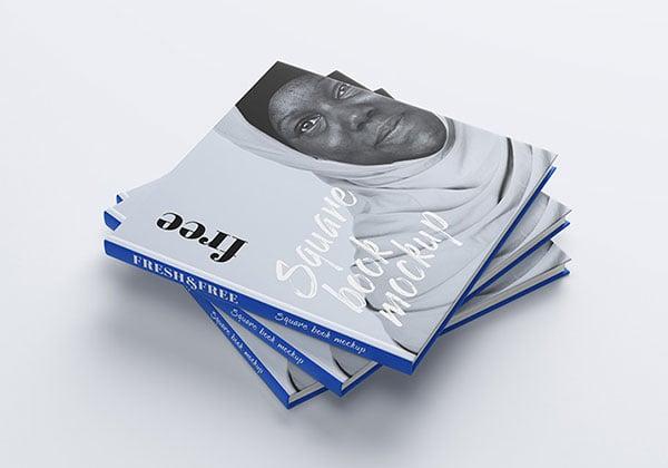 Free-square-book-mockup