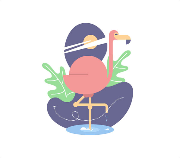 Geometric-Flamingo-Bird-Adobe-Illustrator-Tutorial
