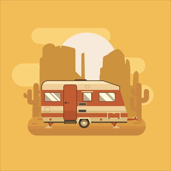 Golden-Camping-Trailer-in-Adobe-Illustrator