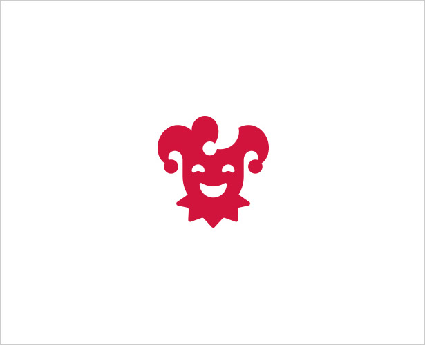 Joker-Negative-Space-Logo-Design