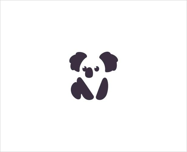 Koala-Bear-Negative-Space-Logo-Design