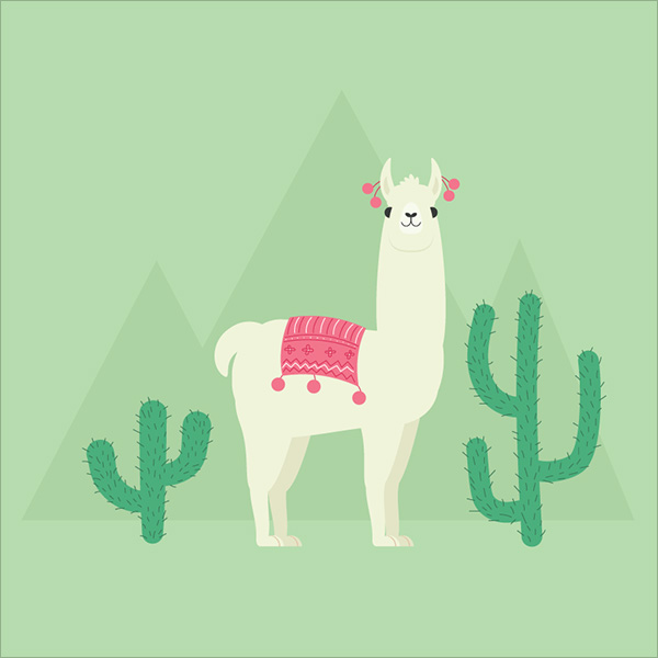 Llama-Illustration-Adobe-Illustrator-Tutorial-2018
