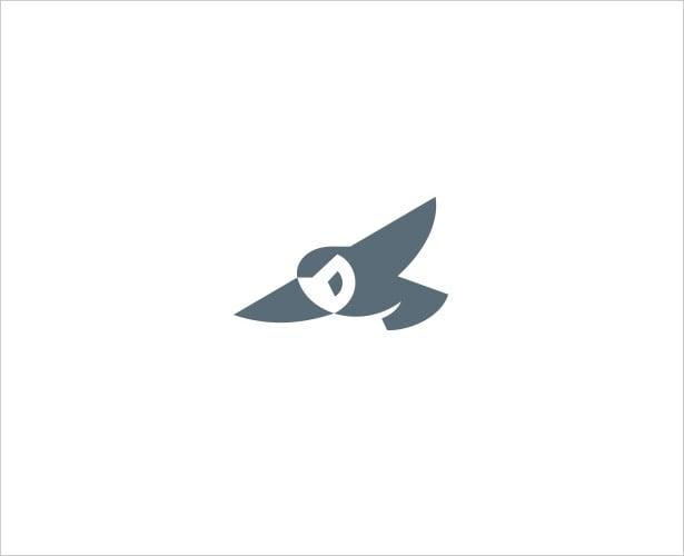 Owl-Negative-Space-Logo-Design