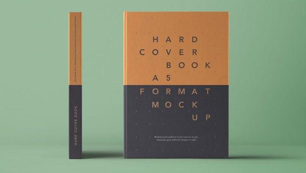 Psd-A5-Hardcover-Book-Mockup