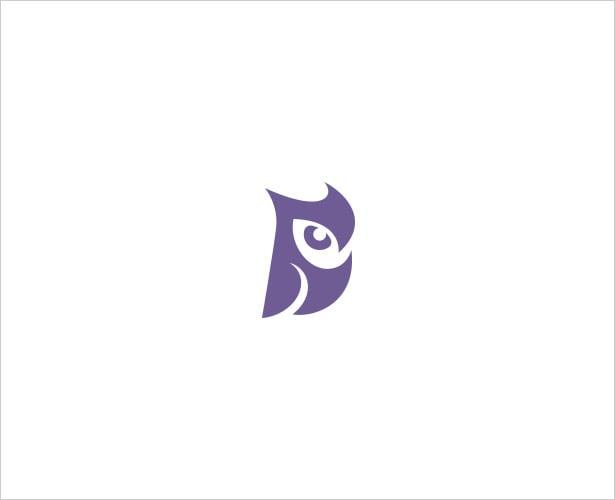 Sitting-Owl-Negative-Space-Logo-Design
