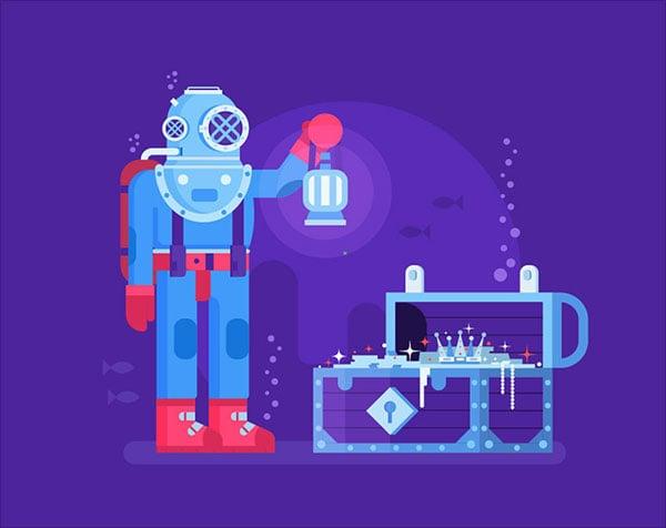 Under-Water-Robot-Illustration-Adobe-Illustrator-Tutorial