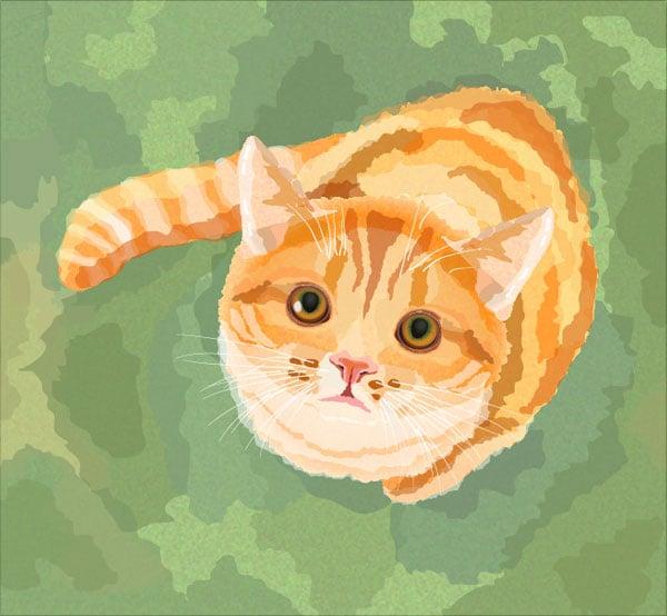 Watercolor-Cat-in-Adobe-Illustrator-CS6-Tutorial