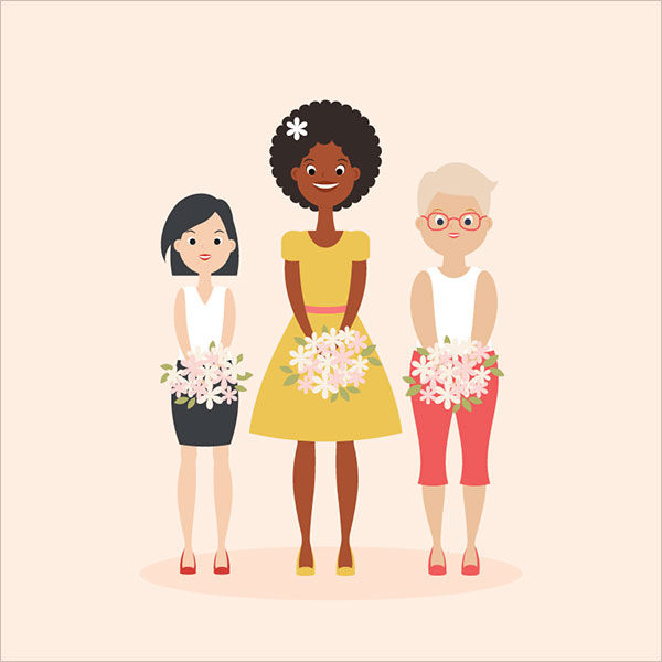 Women's-Day-Illustrations-Adobe-Illustrator