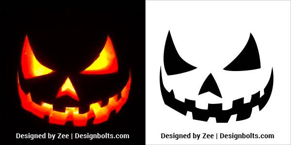 10 Free Scary Halloween Pumpkin Carving Stencils Patterns Ideas