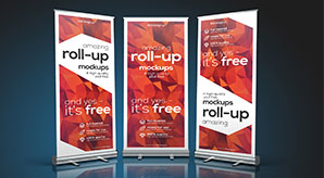 35+-Best-Free-X-Stand,-Flag-&-Roll-up-Standing-Banner-Mockup-PSD-Files
