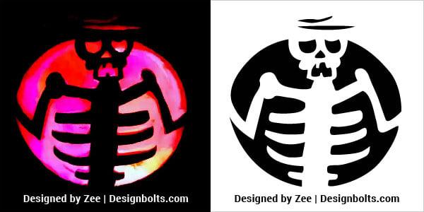 Free Scary Skeleton Pumpkin Carving Stencils 2018 Patterns Ideas Designs