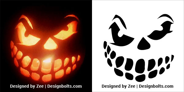 1. Free Scary Pumpkin Carving Stencils 2018 | Patterns, Ideas, Designs, Images, Faces, Printables