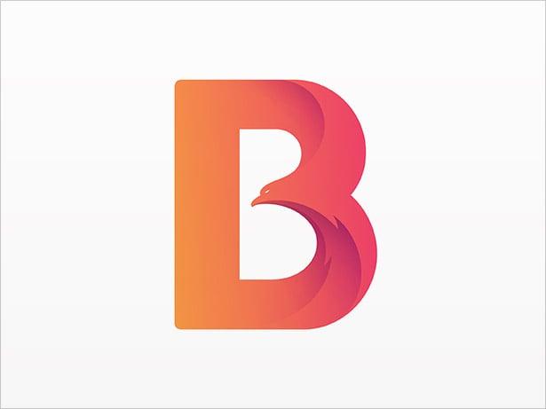 B-Letter-Bird-Logo-Design