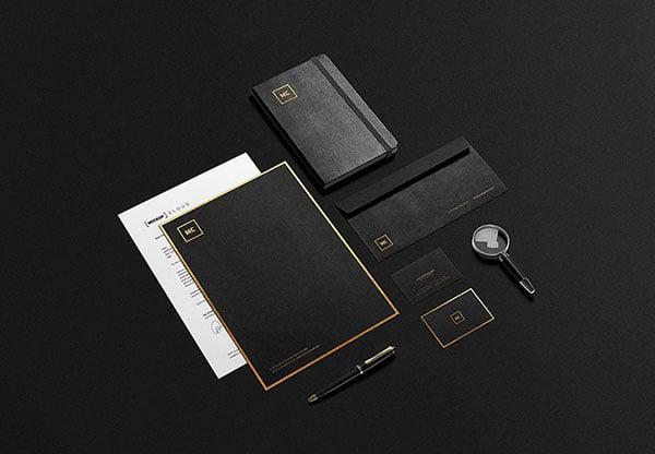 Black-And-Gold-Stationery-MockUp
