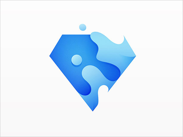 Diamond-Ombre-Logo-Design