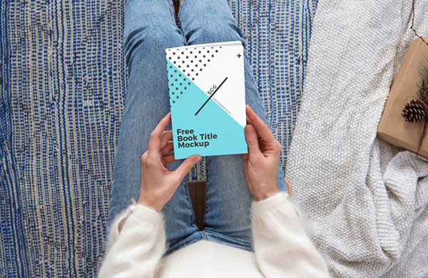 Free-Girl-Seeing-Book-Title-Mockup