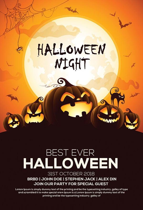 60 Free Halloween Posters Invitation Flyers Print Templates 2018