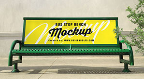 Free-Outdoor-Advertising-Bus-Stop-Bench-Mockup-PSD-File