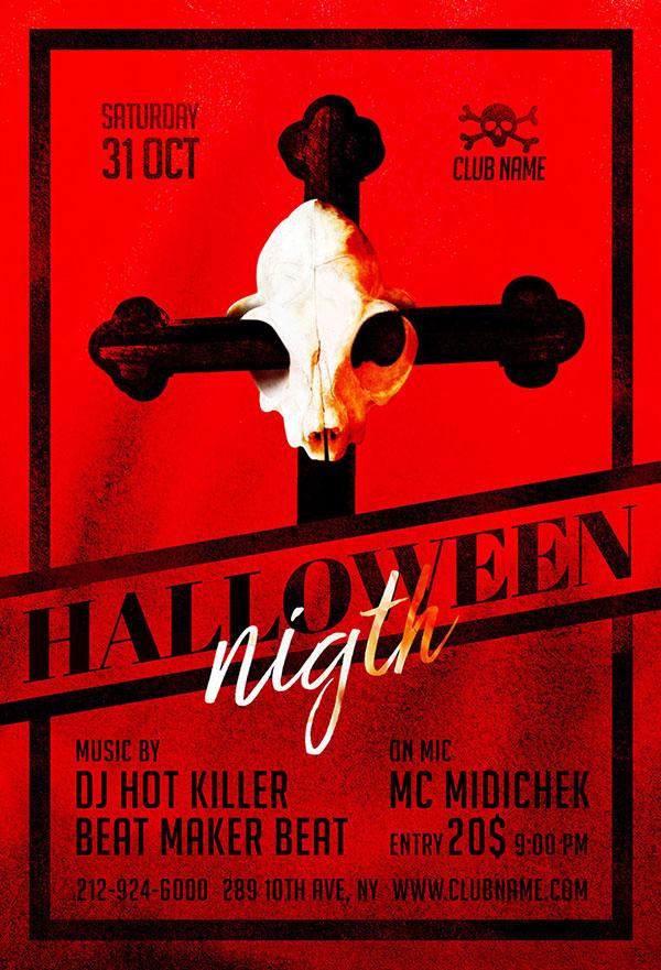 60+ Free Halloween Posters, Invitation Flyers & Print