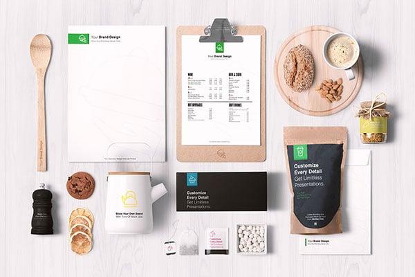 Free-Premium-Food-Packaging-&-Branding-Mockup-PSD