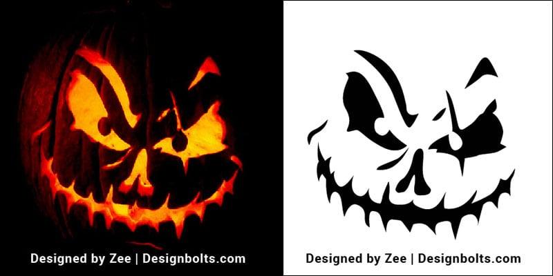 10 Free Scary Halloween Pumpkin Carving Stencils, Patterns & Ideas ...