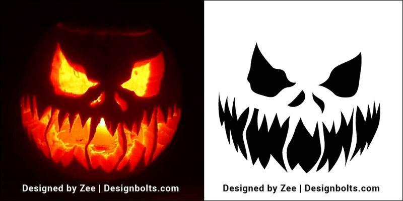 graphic regarding Printable Jack O Lantern Faces named 10 Free of charge Intimidating Halloween Pumpkin Carving Stencils, Routines