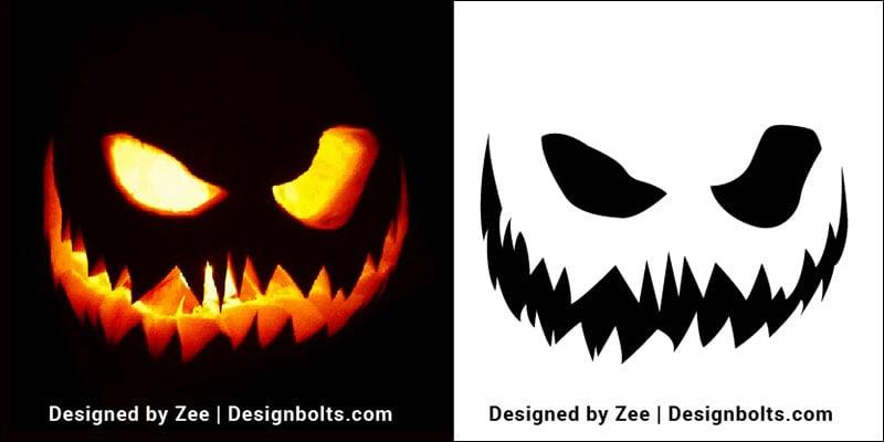 7 Simple Pumpkin Carving Stencils Pattern Ideas For Kids 2018