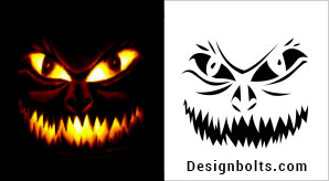 10 Free Scary Halloween Pumpkin Carving Stencils, Patterns & Ideas 2018 | Jack O Lantern Faces, Designs & Images