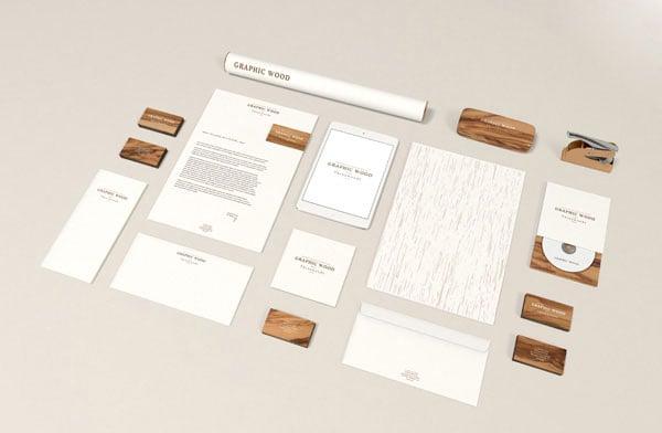 Free-Stationery-MockUp-Wood-Edition