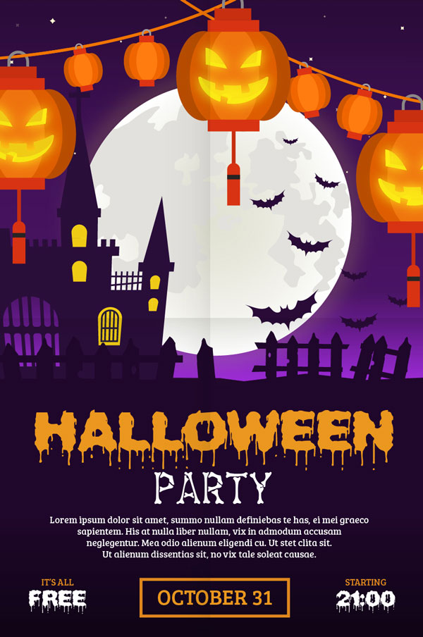 60 Free Halloween Posters Invitation Flyers Amp Print