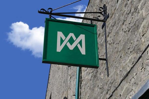 Free-Wall-Mounted-Shop-Sign-Board-Mockup-PSD-768x512