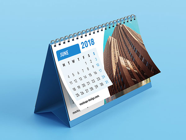 30 best free table  desk tent  u0026 wall calendar mockup psd files