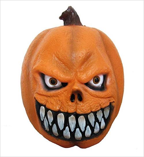 Halloween Party Costume Pumpkin Latex Head Mask
