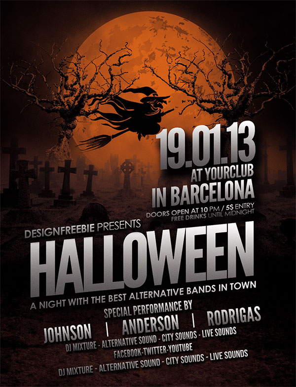 60  free halloween posters  invitation flyers  u0026 print templates 2018
