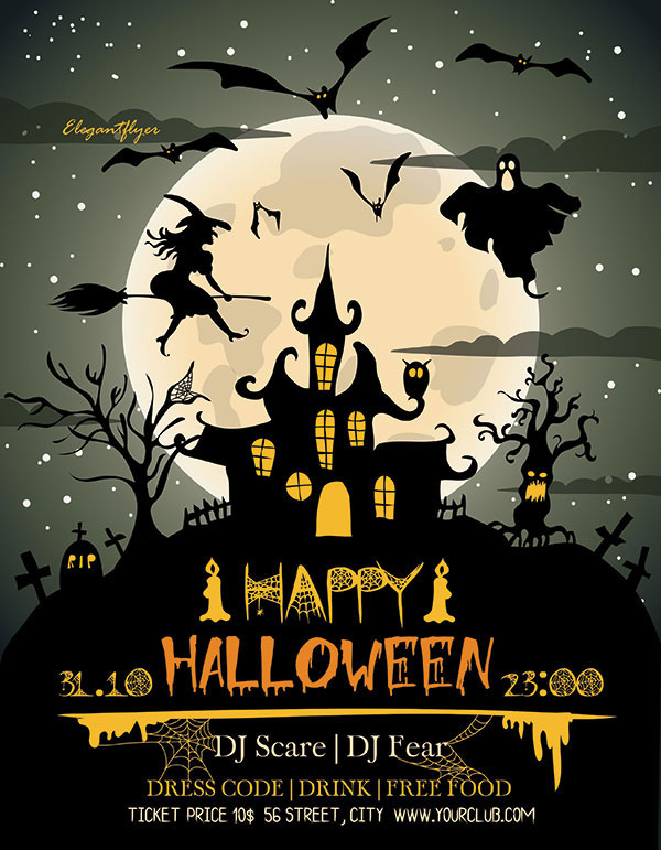 60 Free Halloween Posters Invitation Flyers Print Templates 2018