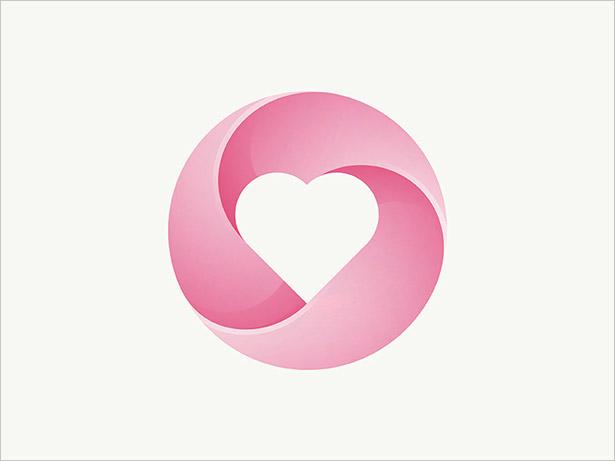 Heart-Logo-Ombre-Logo-Design