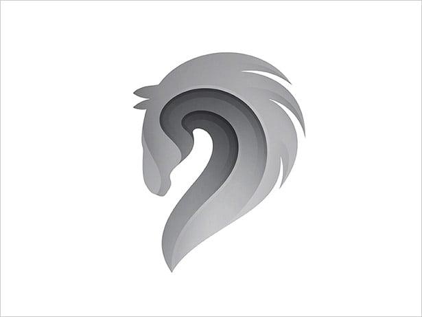 Horse-Ombre-Logo-Design