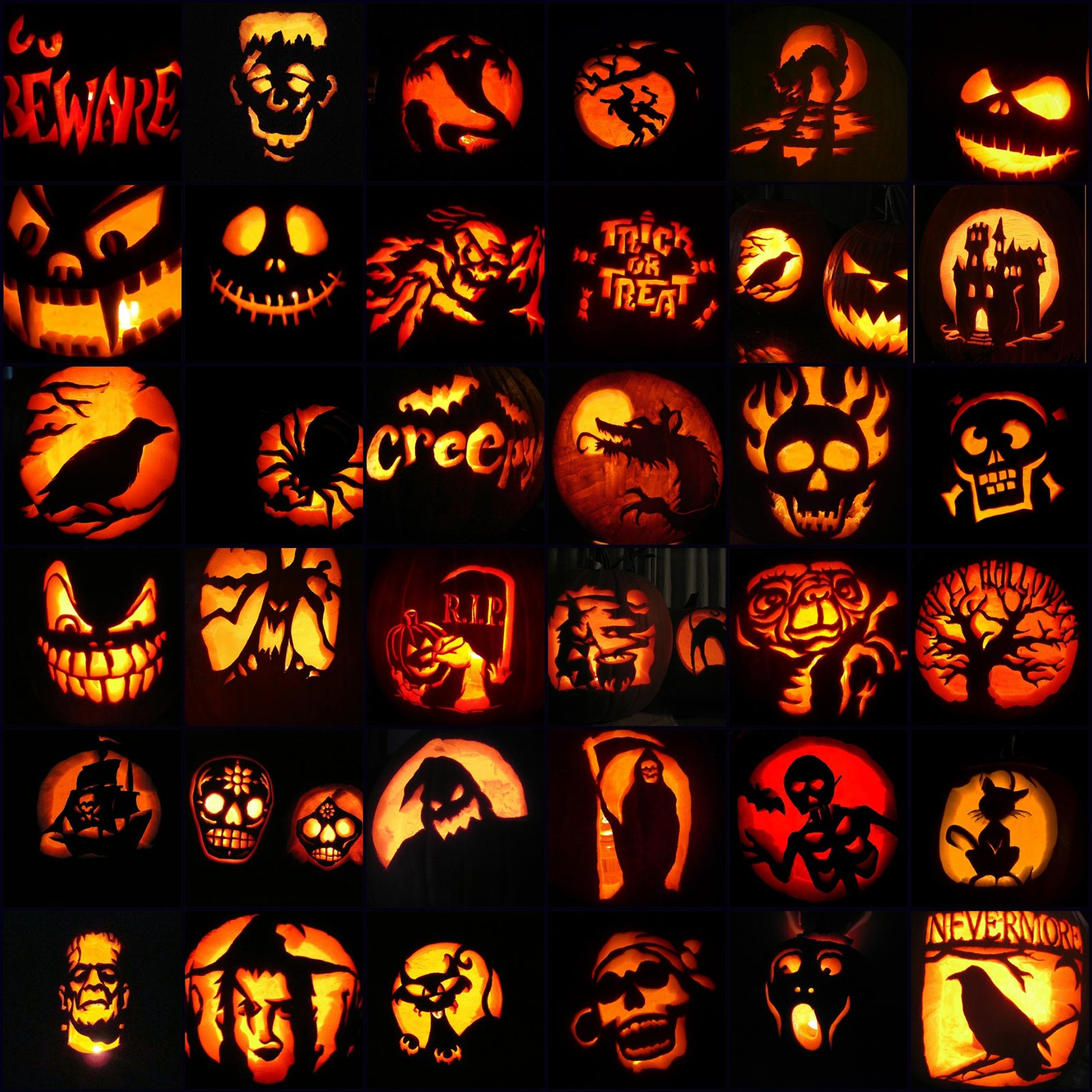 Halloween pumpkin carving designs u faces designs