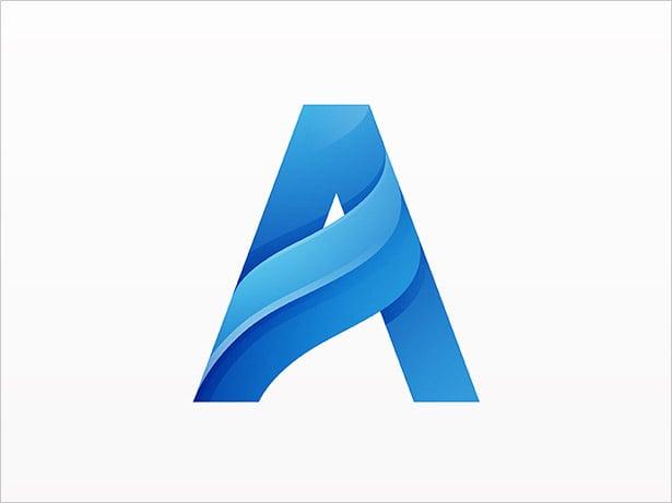 Letter-A-logo-Design-Ombre