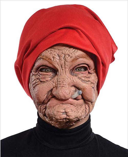 Morris Costumes Halloween Party Old Nana Latex Mask