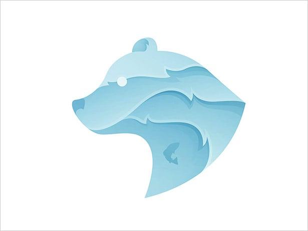 Ombre-Bear-Logo-Design