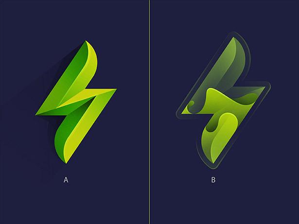 Ombre-Logo-Design-Example